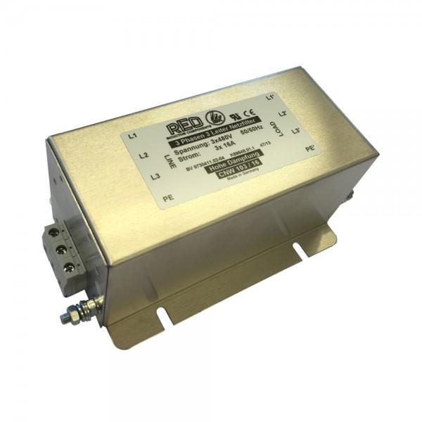Dreiphasen-Netzfilter CNW 103/16 UL